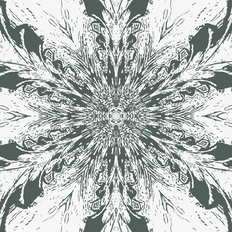 Абстрактное изображение на белом фоне Ратник самураев Картина пера Павлин оперяется предпосылка Картина татуировки бесплатная иллюстрация