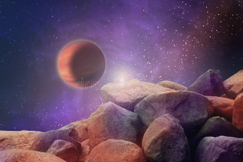 Абстрактное изображение параллельной вселенной, взгляд от неизвестного ston бесплатная иллюстрация