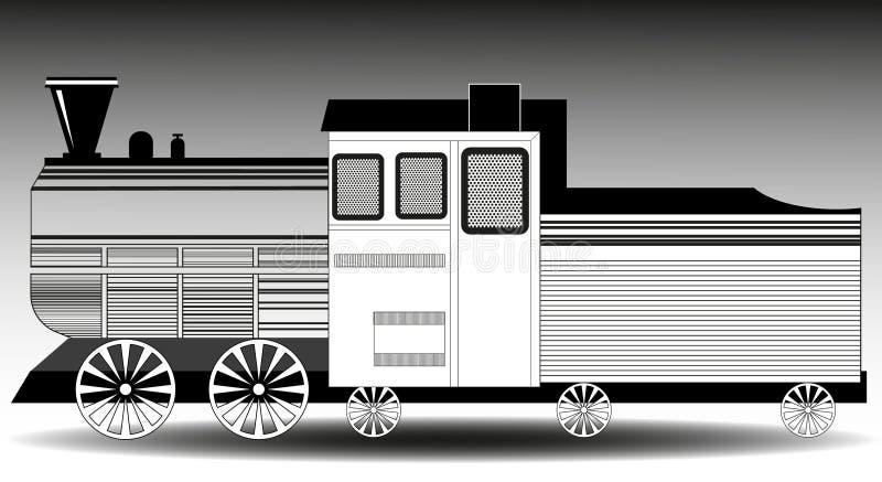 Абстрактное изображение поезда иллюстрация вектора
