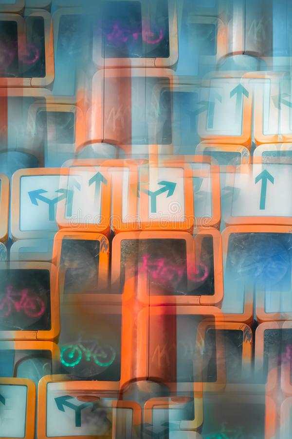 Абстрактное изображение светофора бесплатная иллюстрация