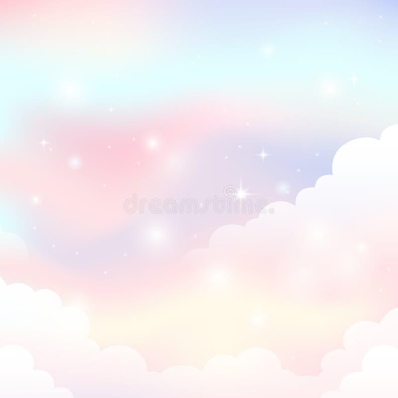 Абстрактное изображение 1 темы неба иллюстрация вектора