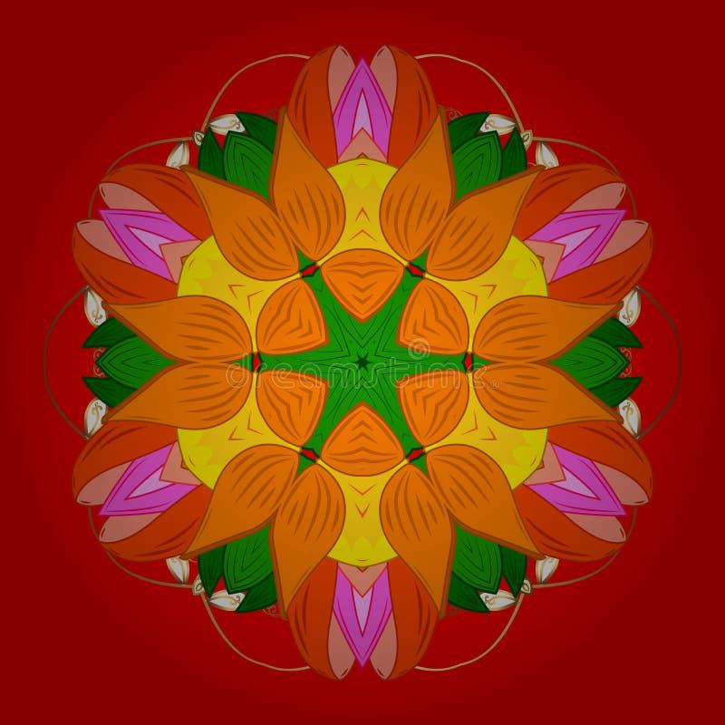 Абстрактное изображение цветов бесплатная иллюстрация