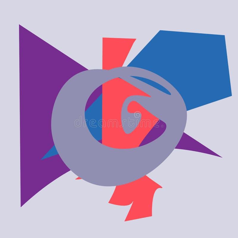 Абстрактное изображение ярких геометрических форм бесплатная иллюстрация