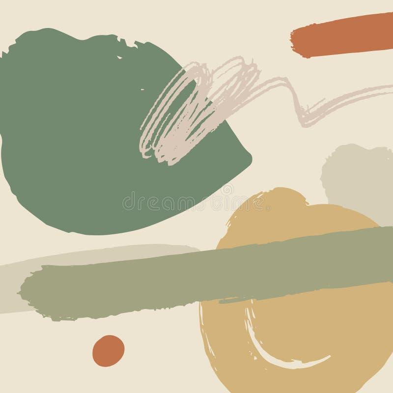 Абстрактное искусство середины века современное r Нордический дизайн для внутреннего и другого E иллюстрация штока