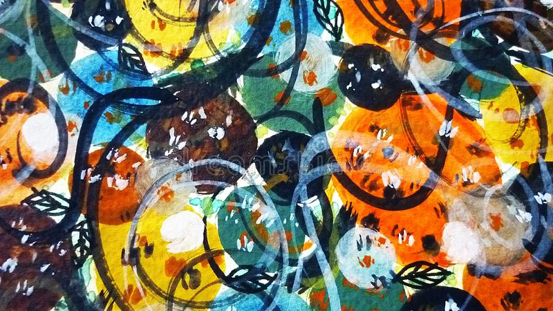 абстрактное искусство цветастое стоковые изображения rf