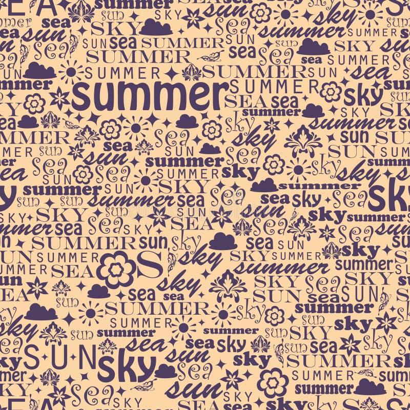 Абстрактное красочное изображение сделанное от слов которые иллюстрация штока