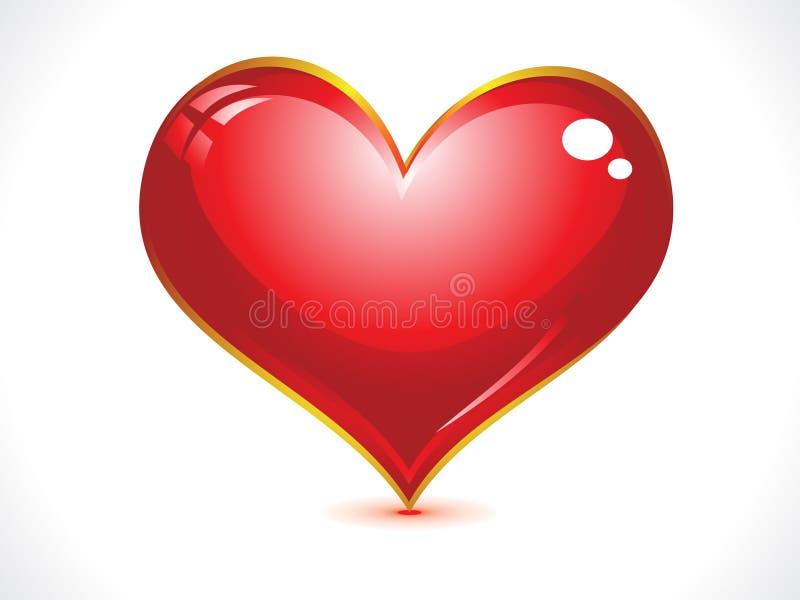 абстрактное лоснистое сердце бесплатная иллюстрация