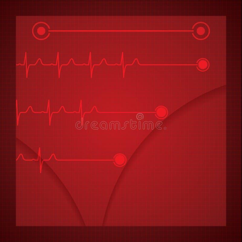 Абстрактное медицинское ekg кардиологии иллюстрация вектора