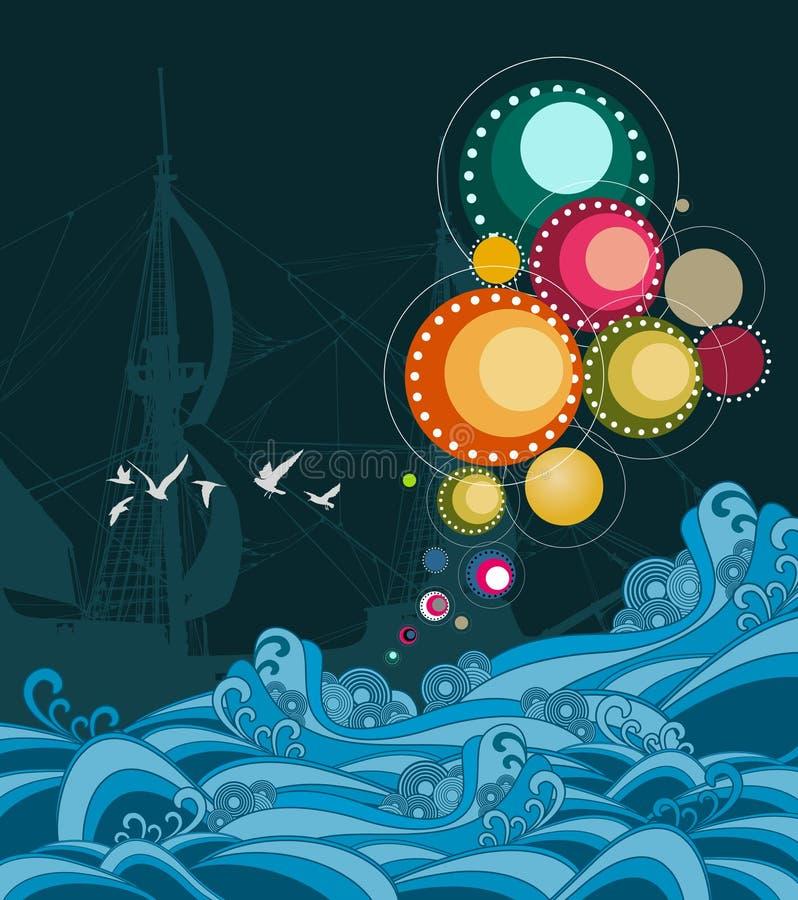 абстрактное море бесплатная иллюстрация