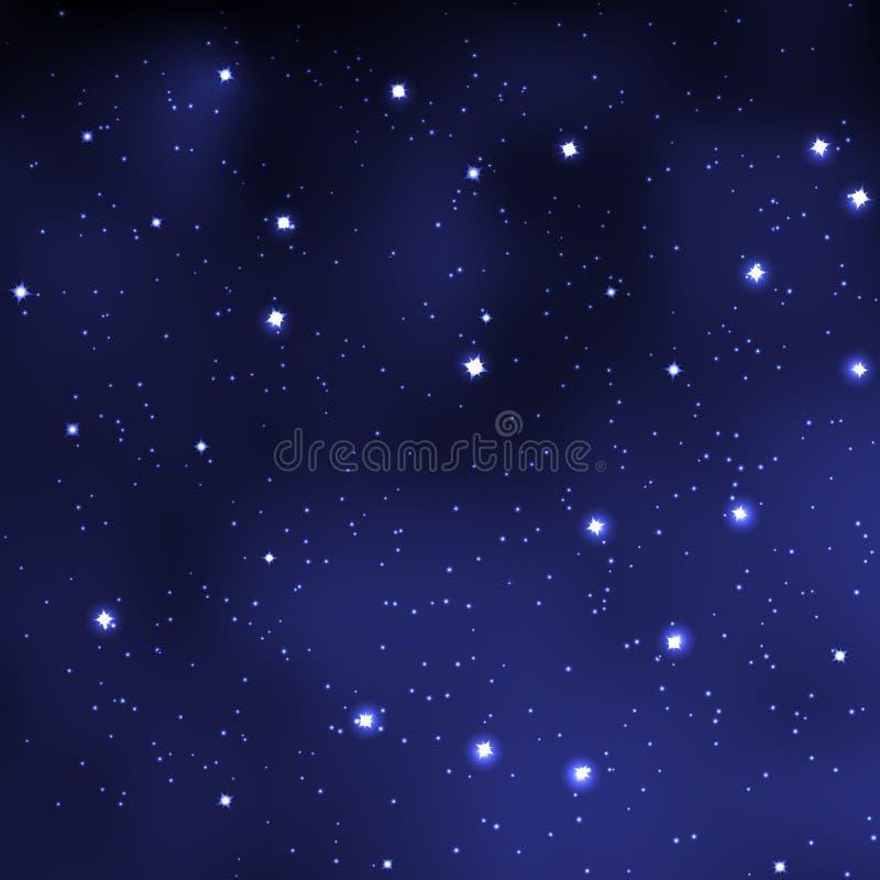 Абстрактное ночное небо с звездами стоковая фотография rf