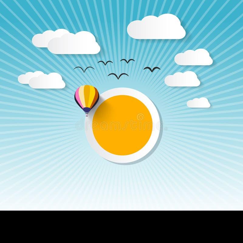 Абстрактное острословие Солнце ландшафта иллюстрация штока