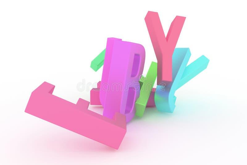 Абстрактное оформление CGI, алфавитный знак представляет письмо ABC Обои для графического дизайна Слово, текст, куча & 3d бесплатная иллюстрация