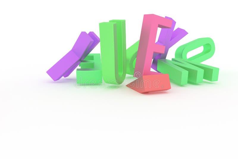 Абстрактное оформление CGI, алфавитный знак представляет письмо ABC Обои для графического дизайна бесплатная иллюстрация