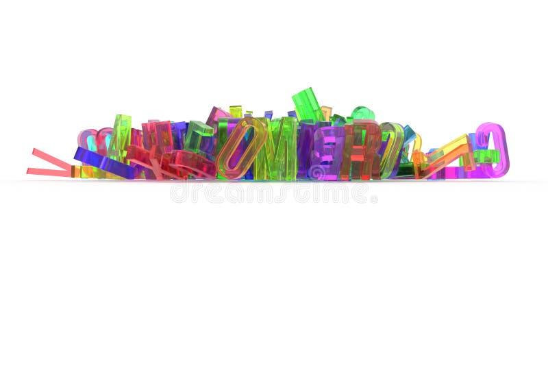 Абстрактное оформление CGI, алфавит, письмо ABC Обои для бесплатная иллюстрация