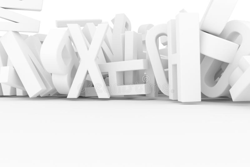 Абстрактное оформление CGI, алфавит, письмо ABC Обои для иллюстрация вектора