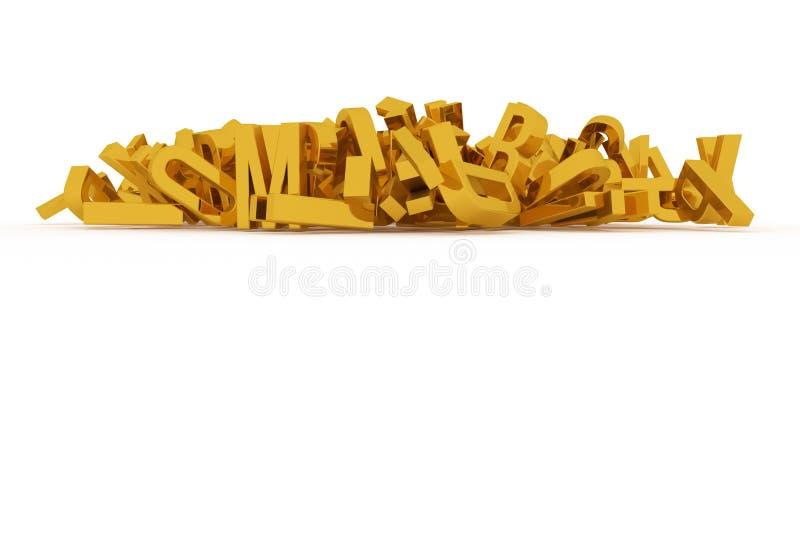 Абстрактное оформление CGI, алфавит, письмо ABC Обои для иллюстрация штока