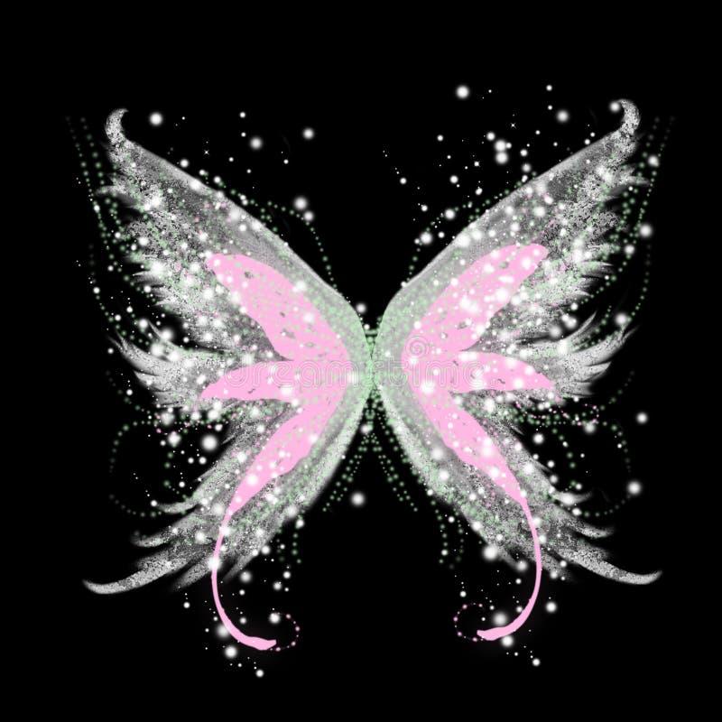 абстрактное очарование бабочки иллюстрация вектора