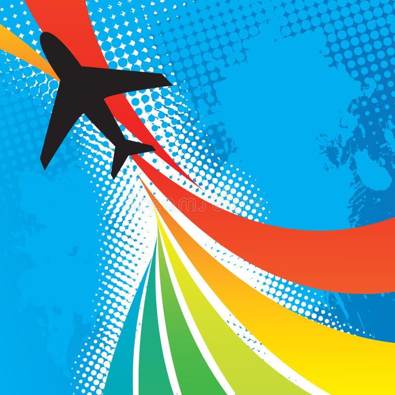 абстрактное перемещение самолета иллюстрация штока