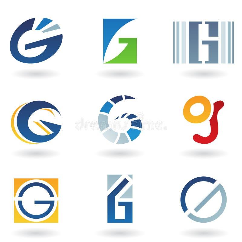 абстрактное письмо икон g иллюстрация вектора