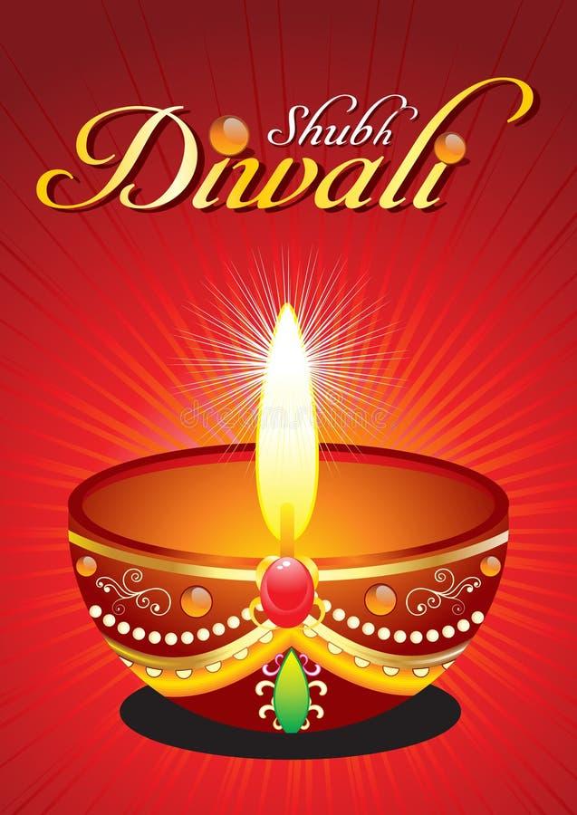 абстрактное повышение diwali предпосылки бесплатная иллюстрация