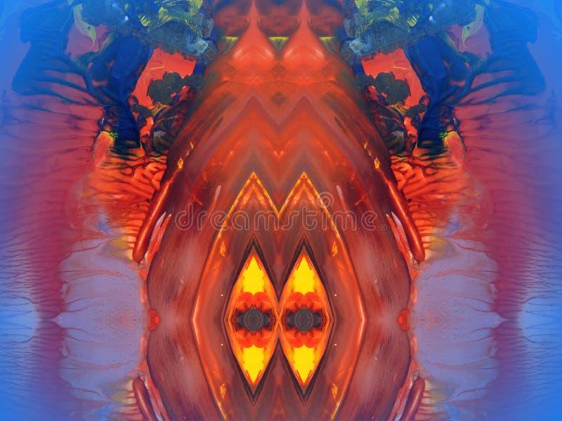 абстрактное покрашенное цветастое стоковая фотография rf