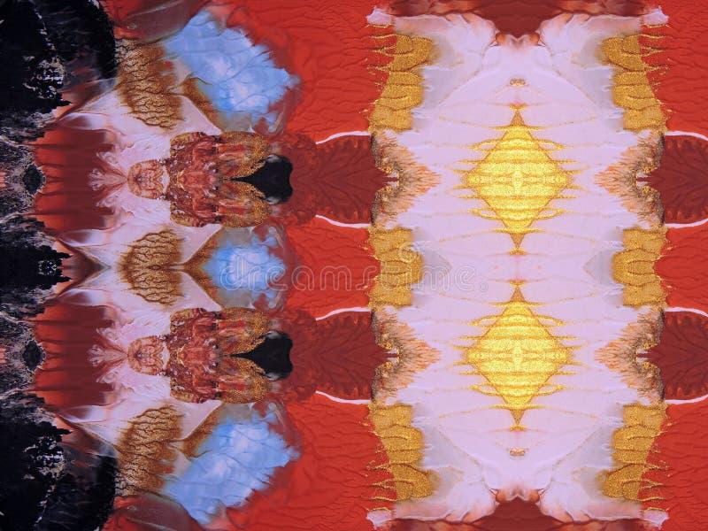 абстрактное покрашенное цветастое стоковое изображение
