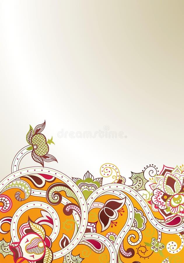 Абстрактное померанцовое флористическое бесплатная иллюстрация