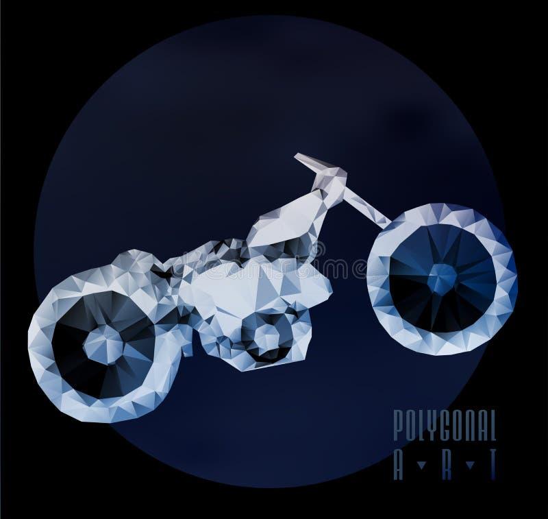 Абстрактное полигональное мотоцилк бесплатная иллюстрация