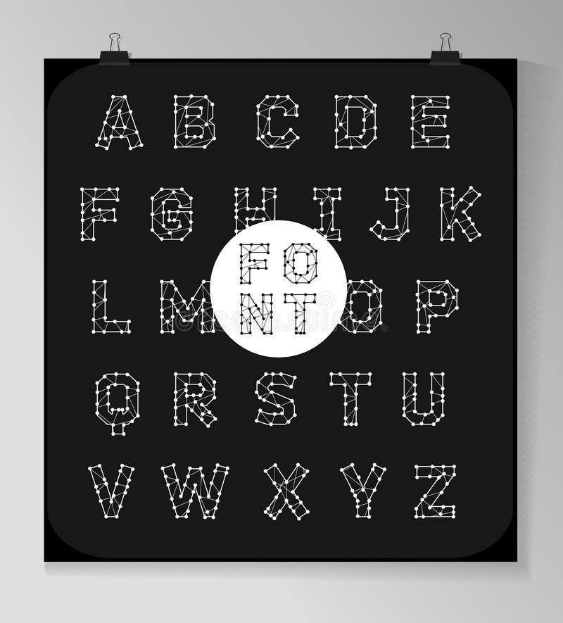 Абстрактное полигональное письмо в космическом стиле бесплатная иллюстрация