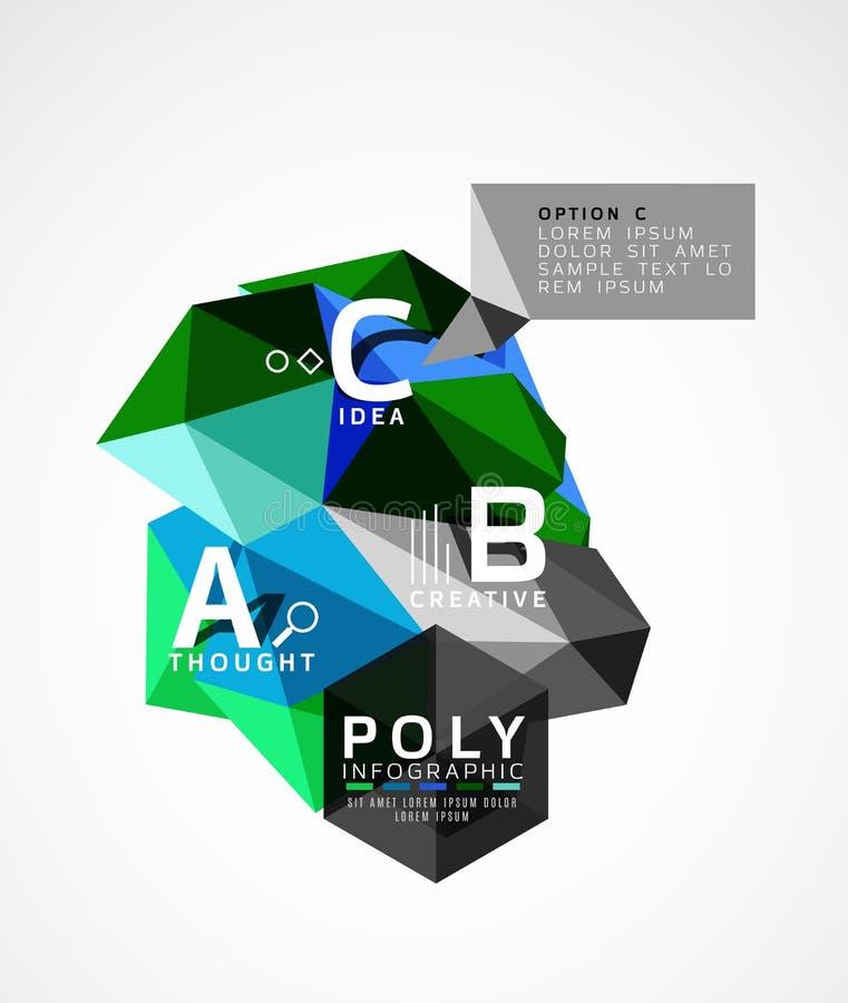 Абстрактное полигональное infographics бесплатная иллюстрация