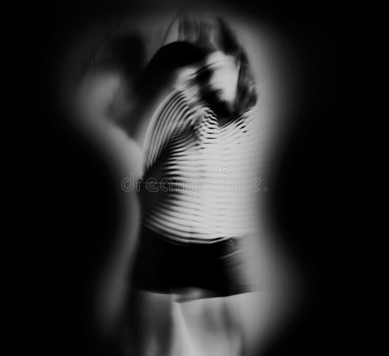 Абстрактное представление гитары с танцором стоковые изображения rf