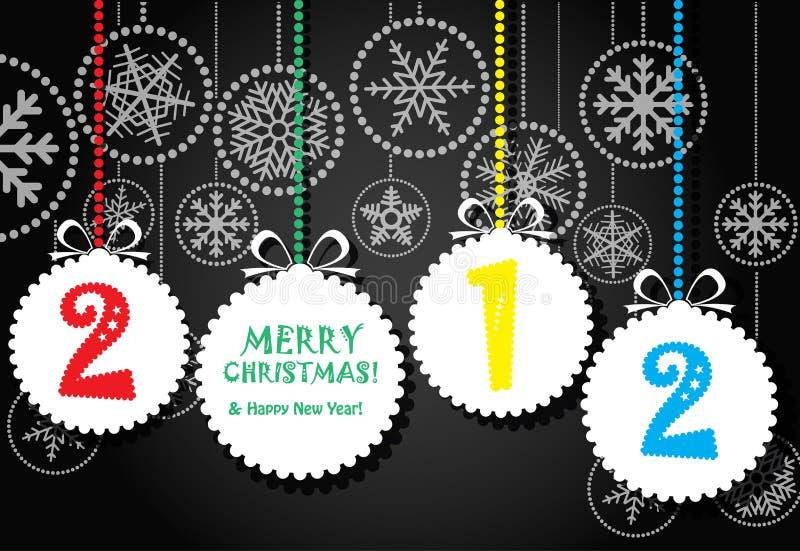 абстрактное приветствие рождества карточки toys белизна иллюстрация вектора