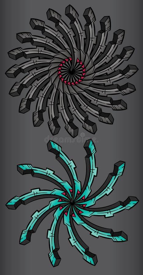 Абстрактное промышленное symmetrycal колесо бесплатная иллюстрация