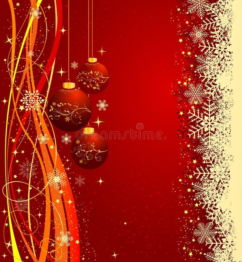 абстрактное рождество предпосылки иллюстрация вектора
