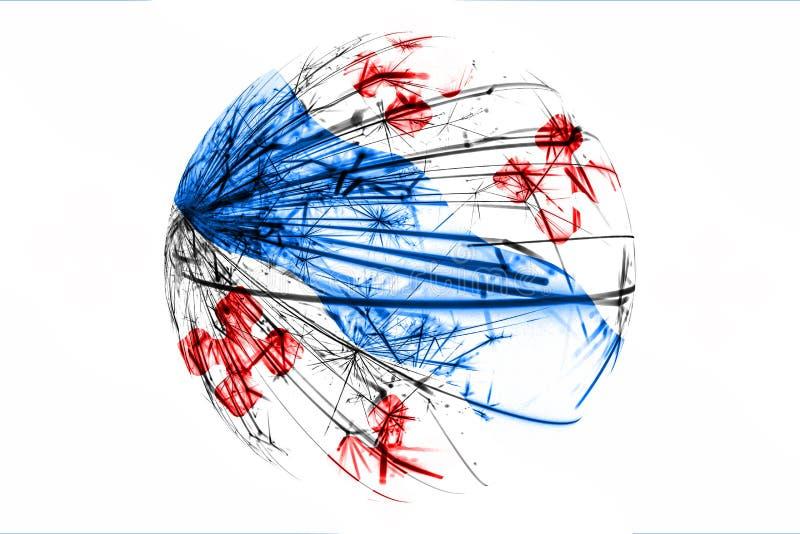 Абстрактное Роквилл, флаг Мэриленда сверкная Американская концепция шарика рождества изолированная на белой предпосылке иллюстрация вектора