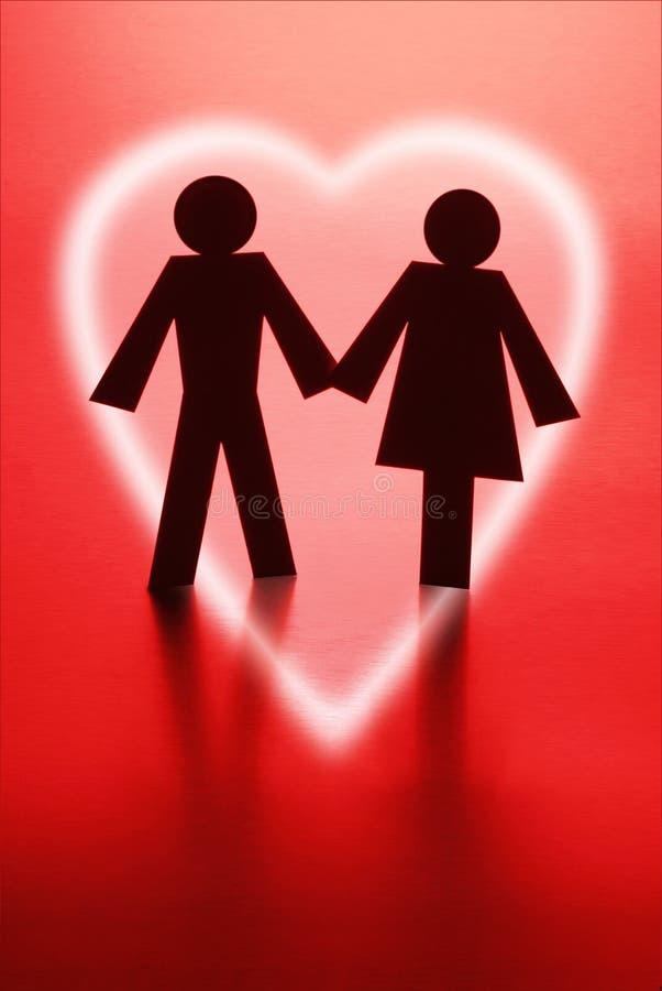 абстрактное романс влюбленности сердца пар стоковые изображения rf