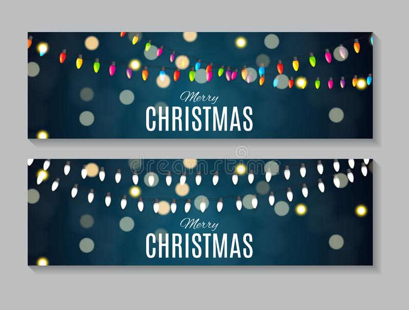 Абстрактное собрание карты рождества и Нового Года красоты установило иллюстрацию вектора иллюстрация вектора
