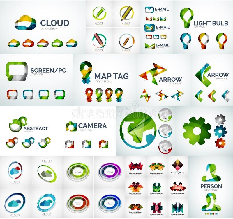 Абстрактное собрание логотипа компании бесплатная иллюстрация