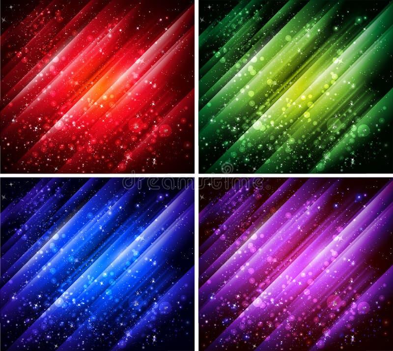 абстрактное собрание предпосылок цветастое иллюстрация вектора
