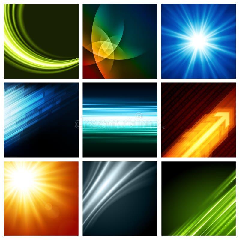 Абстрактное собрание предпосылок вектора современное иллюстрация вектора