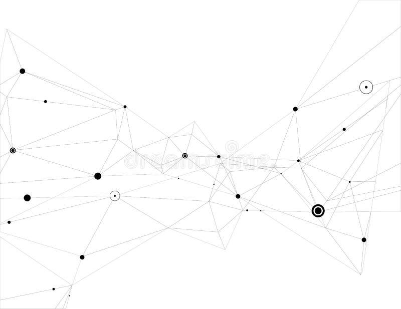 Абстрактное соединение частиц иллюстрация вектора