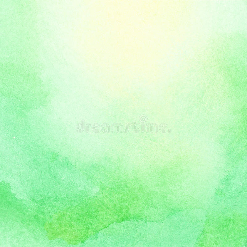 Абстрактное солнце и солнечный свет акварели светя на зеленой траве стоковое фото rf