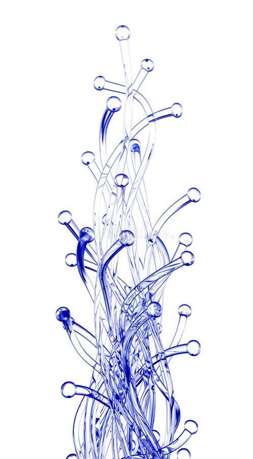 абстрактное стекло 3d представляет скульптуру иллюстрация штока