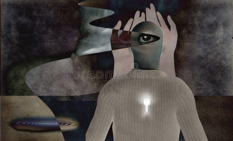 абстрактное сюрреалистическое иллюстрация вектора