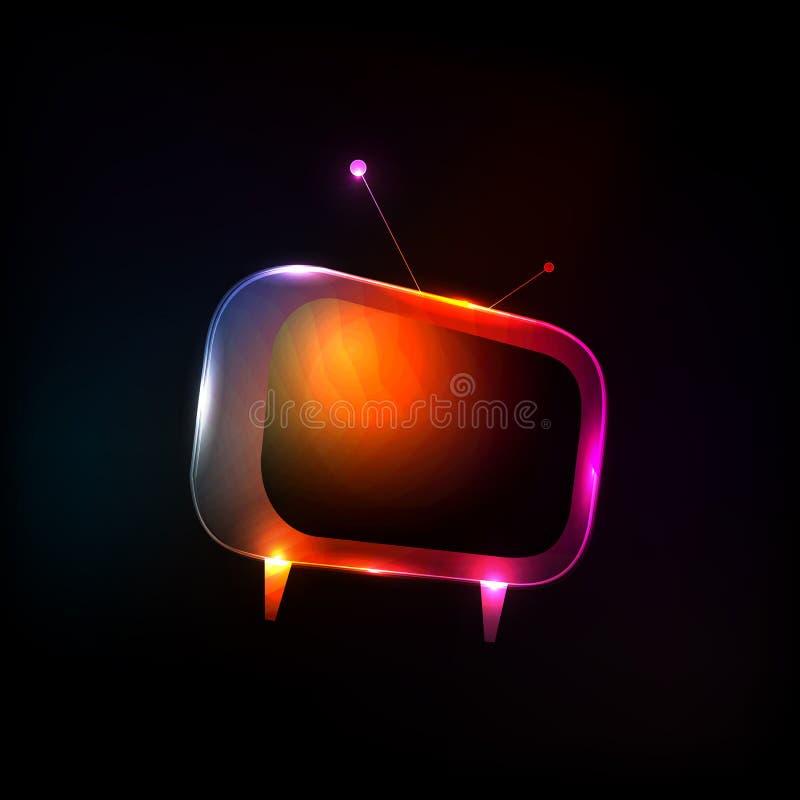 Абстрактное ТВ неонового света иллюстрация вектора