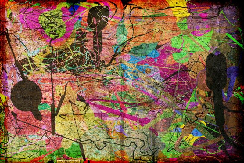 Абстрактное текстурированное современное искусство бесплатная иллюстрация