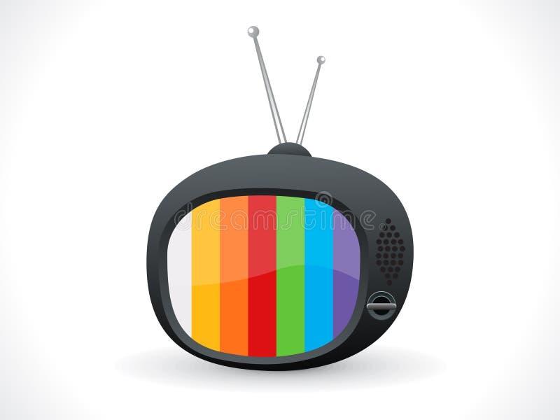 абстрактное телевидение иконы иллюстрация вектора