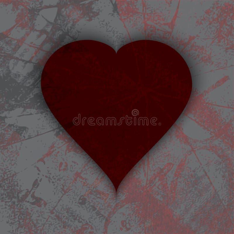 Download Абстрактное темное сердце Grunge сбор винограда бумаги орнамента предпосылки геометрический старый Иллюстрация штока - иллюстрации насчитывающей современно, цветасто: 41661661