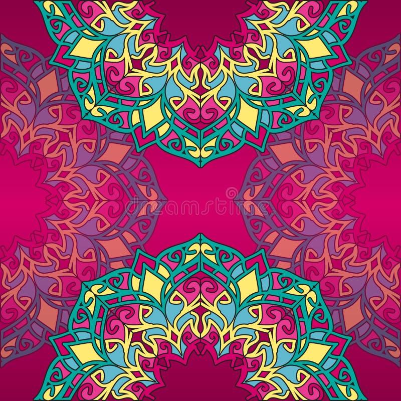 Абстрактное украшение шнурка, округлая форма стоковые фотографии rf