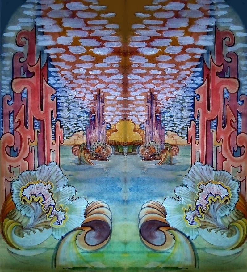 Абстрактное фантастическое изображение Чертеж сделан вручную иллюстрация штока